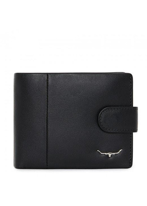 R M Williams Bill Fold Wallet - Black