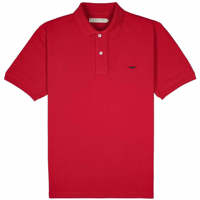 R M Williams Rod Polo Shirt - Red - Livingston - Castle Douglas