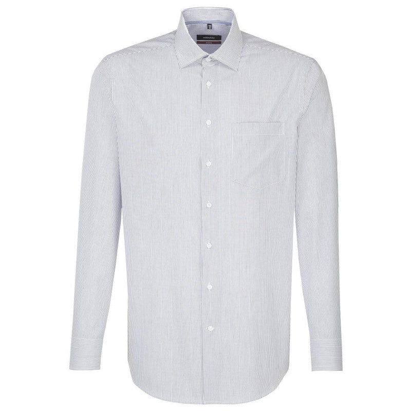 Seidensticker Fine Stripe Shirt - White/Black