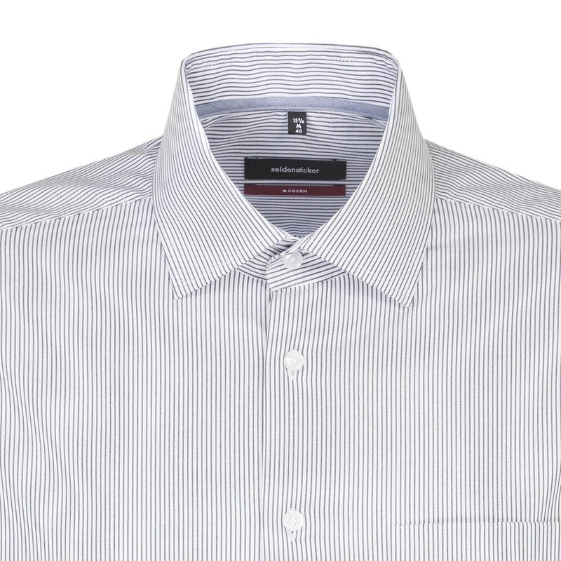 Fine Stripe Shirt - White/Black