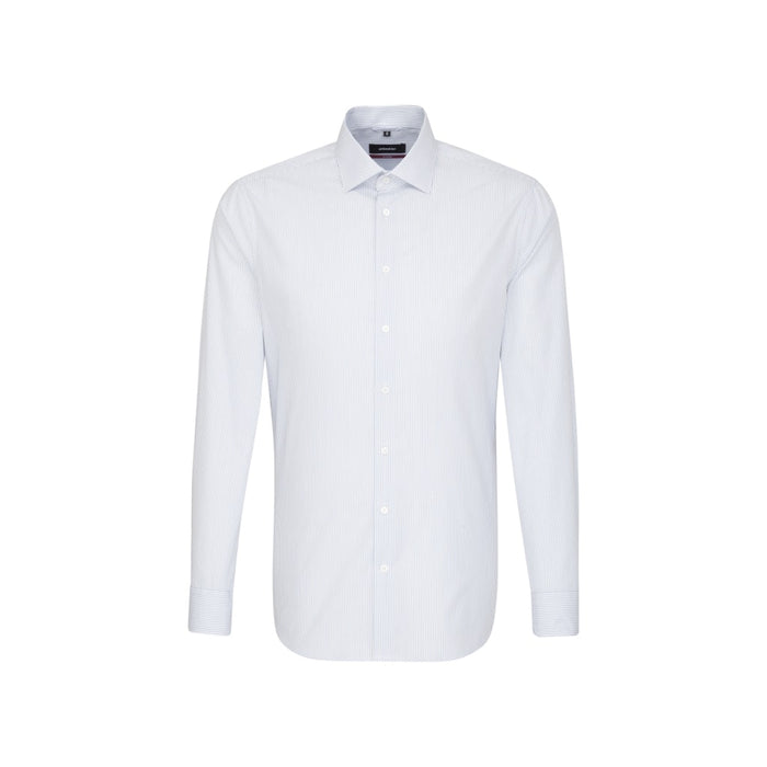 Seidensticker Pinstripe Shirt - White/Navy