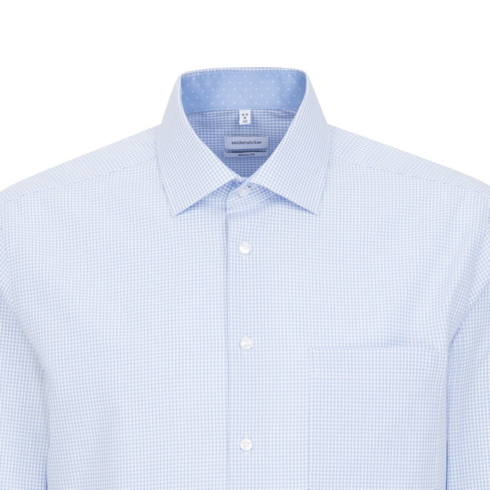 Seidensticker Fine Check Shirt - Blue/White