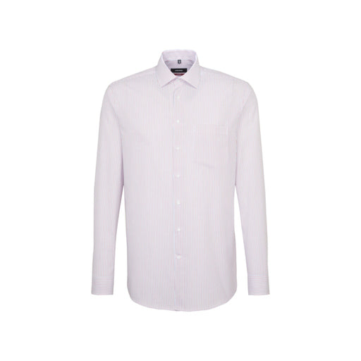 Seidensticker Pinstripe Shirt - White/Pink/Grey