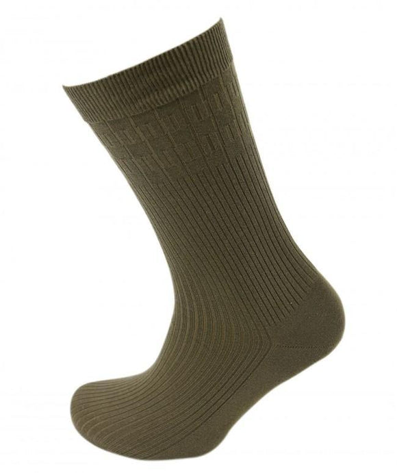 Viyella Cotton Rich Mix Soft Touch Sock -  Lovat