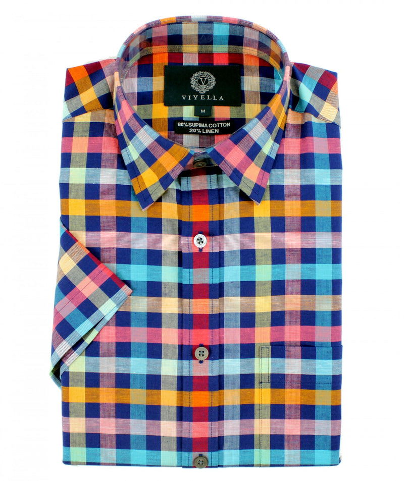 Short Sleeve Shirt - Navy Multi