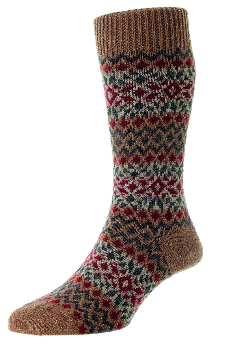 Fellcroft Wool Socks - Coffee
