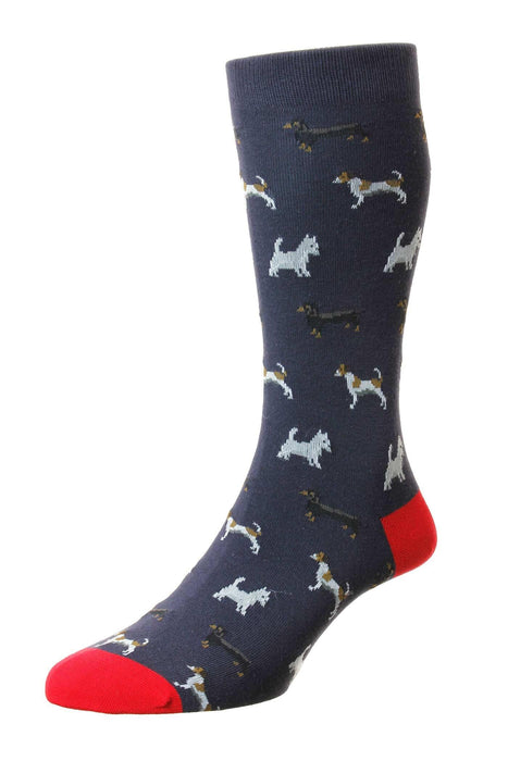Scott-Nichol Dog  Socks - Navy - Livingston - Castle Douglas