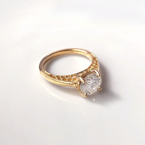family heirloom inspired solitaire engagement ring