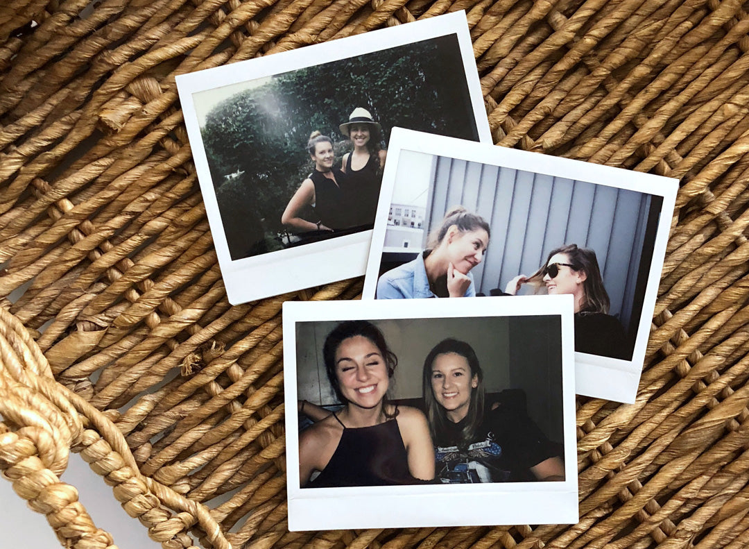 Polaroids of the two women behind Irina Victoria Jewelry