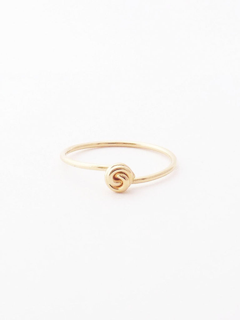 14k rose bud ring