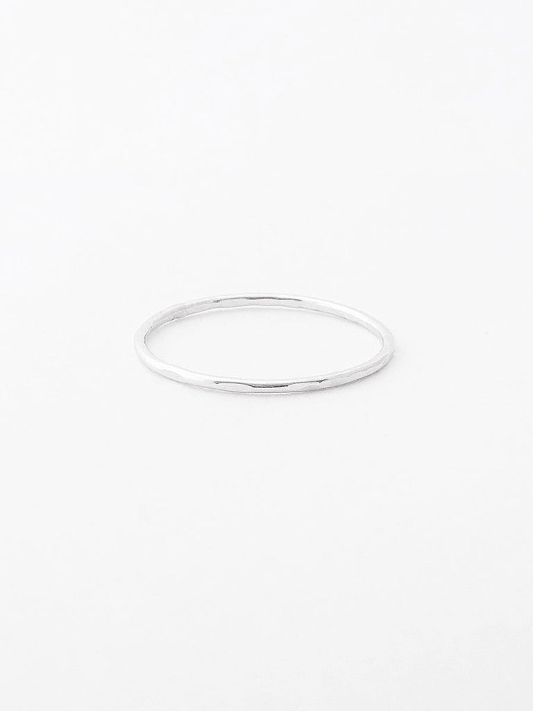 Sterling silver textured thin band