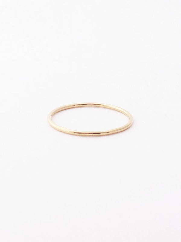 14k smooth thin band