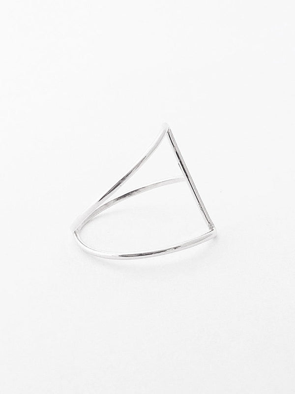 Sterling silver isosceles triangle ring