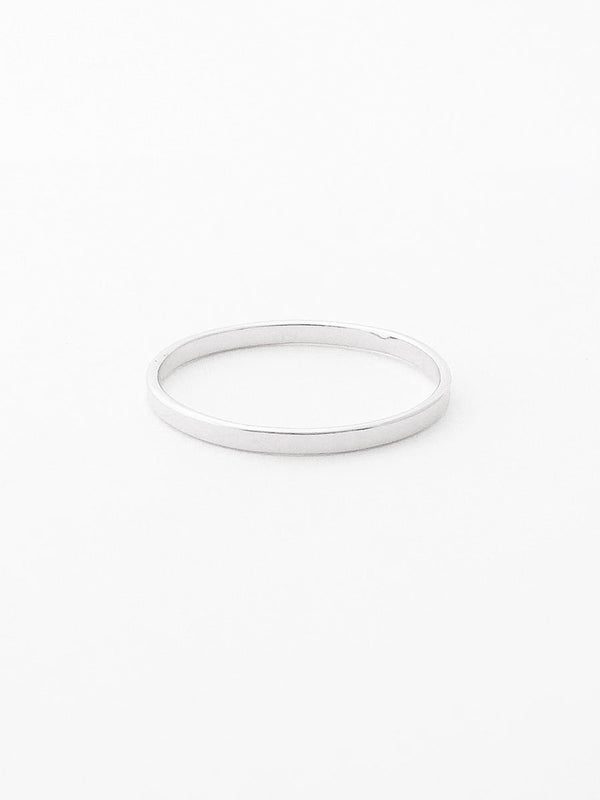 Sterling silver smooth flat band ring