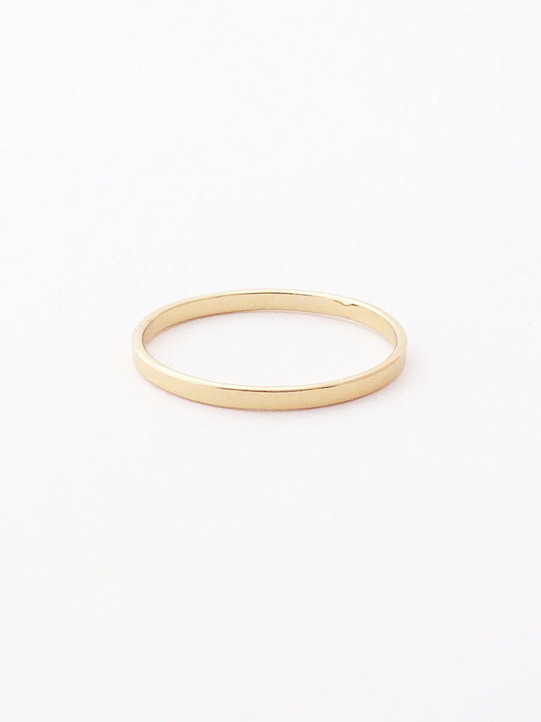 14k smooth wide band ring
