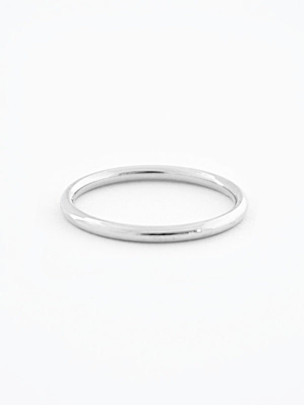 Platinum minimalist wedding band