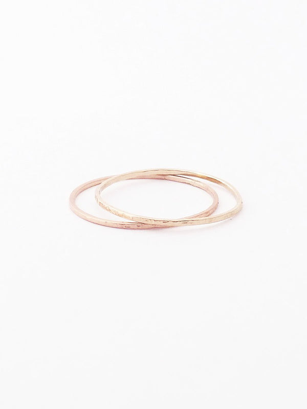 14k textured thin band