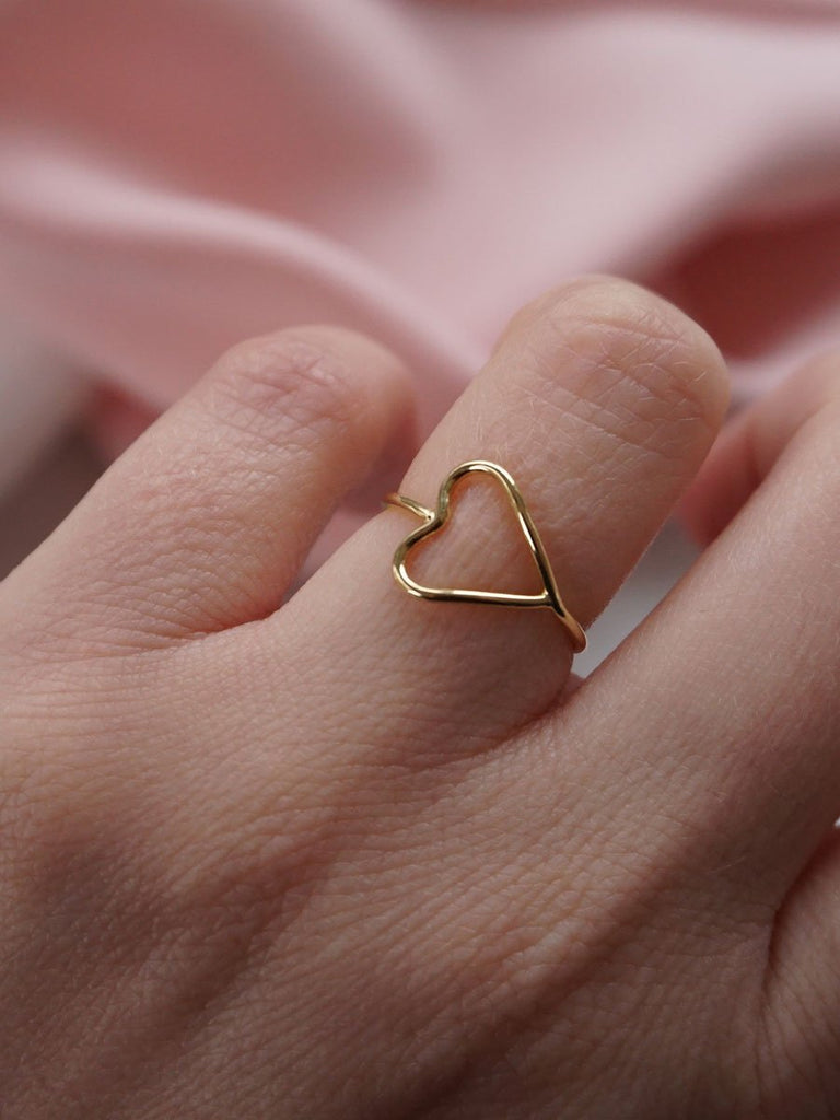 14k I Heart You Ring