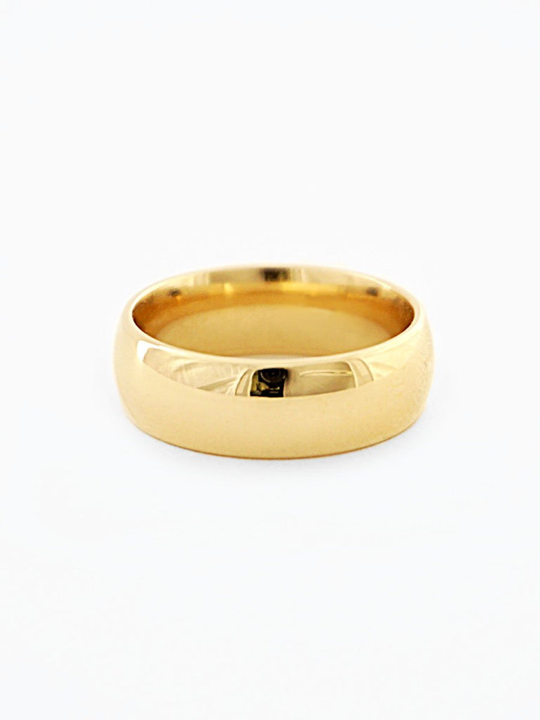 Gold Unisex Wide Bands