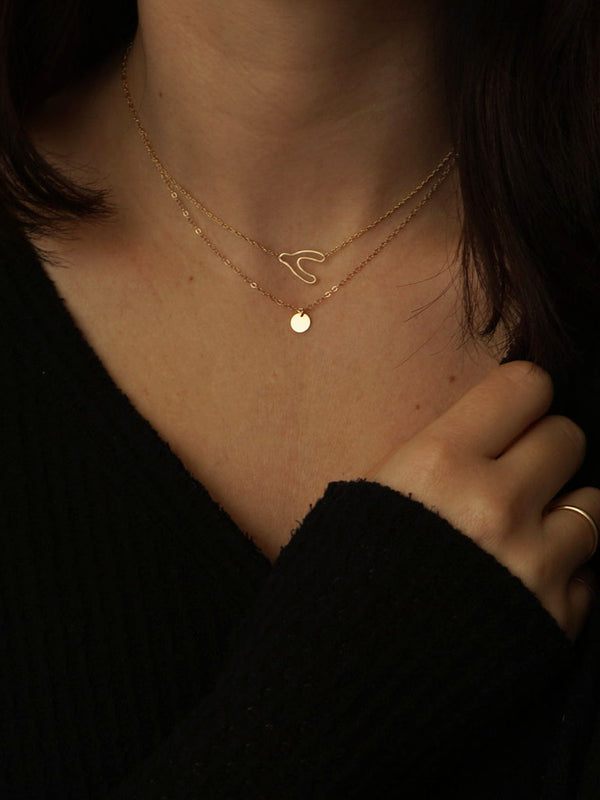14k Tiny Coin Necklace