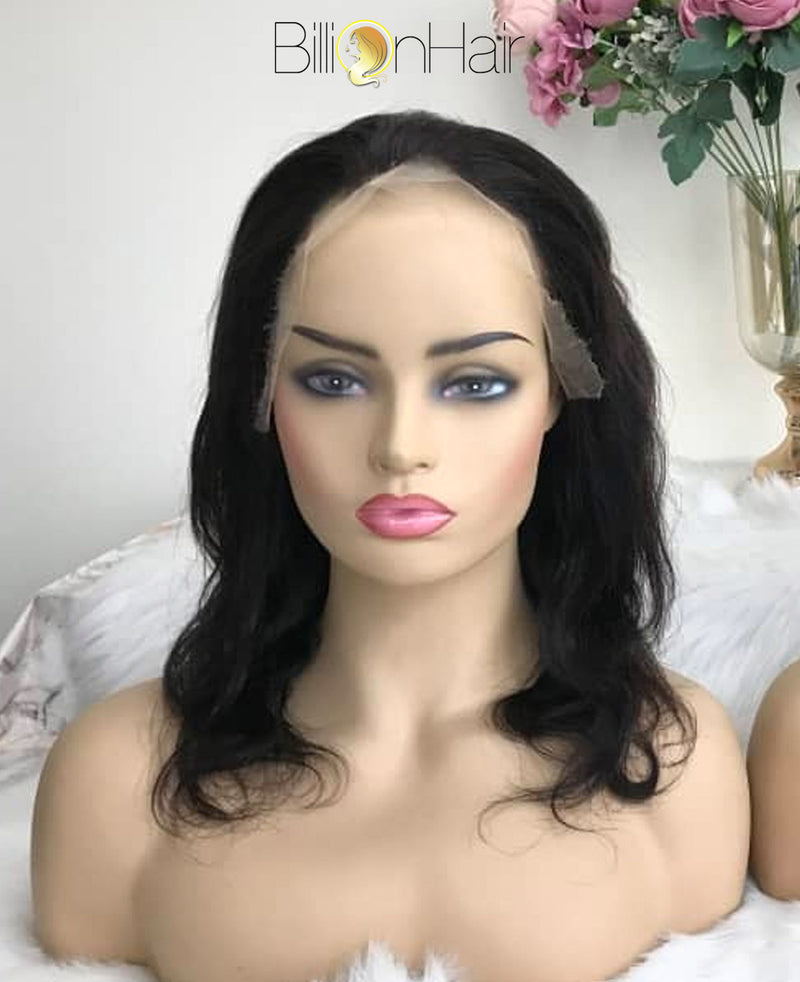12 Inch HD Wavey Front Lace Wig