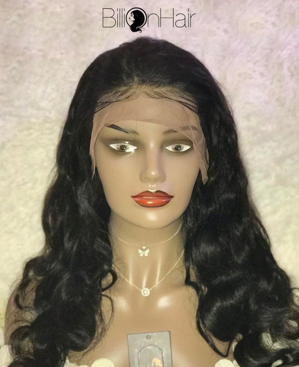 20 Inch Black Bodywave Front Lace Wig