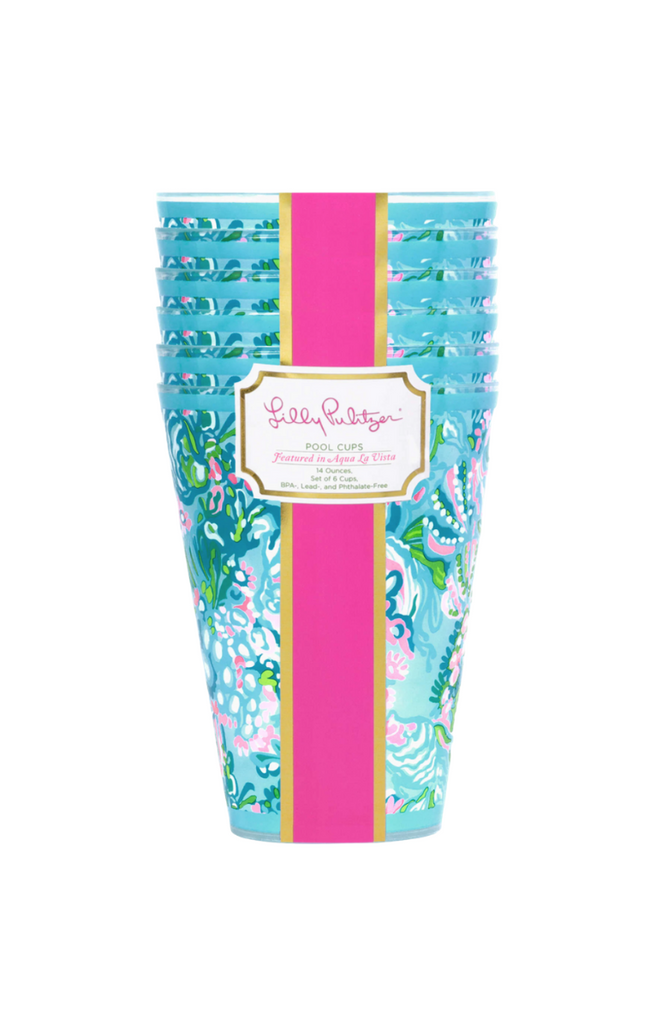 Lilly Pulitzer Plastic Cups (Set of 6)