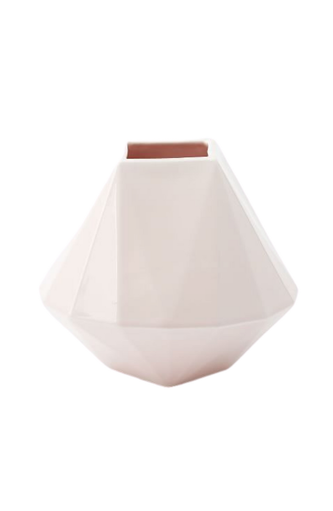 Blush faceted porcelain vase || Chapel & Fox Custom Gift Boxes