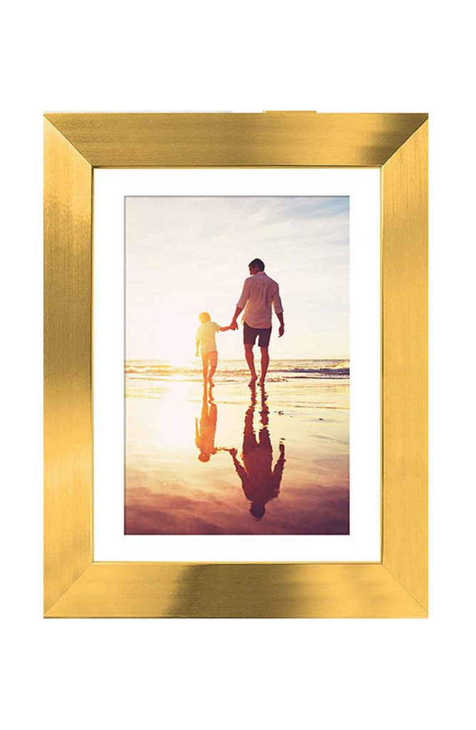 Brushed Gold Photo Frame- Your Photo Included!
