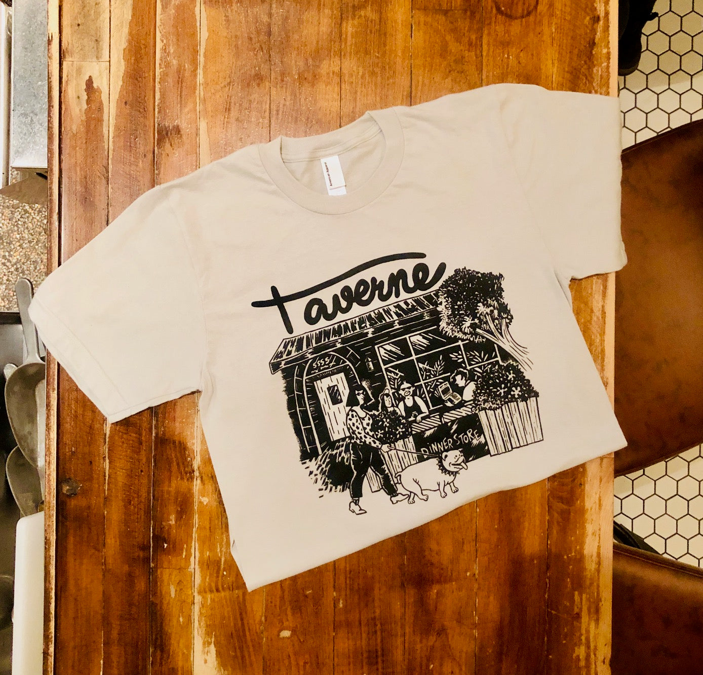 Taverne X DinnerStore Tee (click on item for sizing)