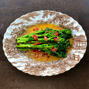 Rapini with Garlic and Chilis