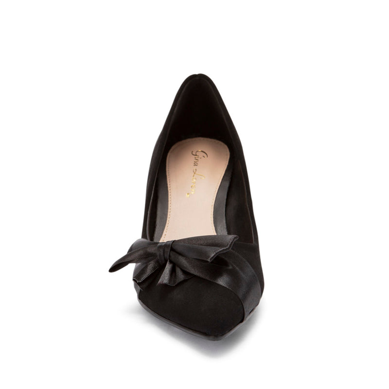 Zapatilla nobuck color negro