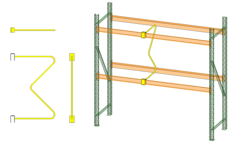 M Divider MD54-42 Multiple Views and On Pallet Rack By SaveMH