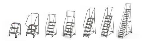 SaveMH Rolling Ladder Collection for industrial and warehouse use