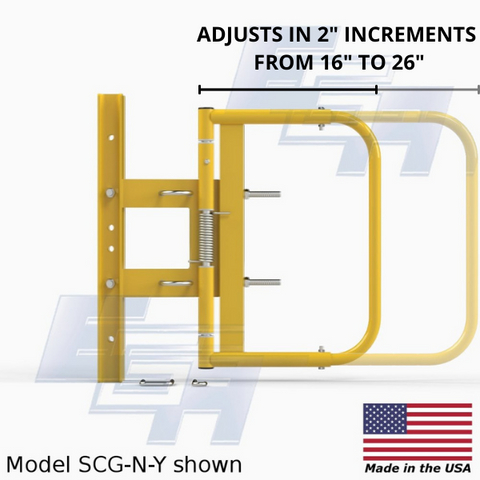 """Safety Swing Gate SCG-N-Y Adjustable for 16""""-26"""" in 2"""" Increments by EGA Products"""