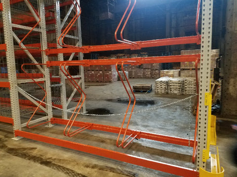 Orange Pallet Rack M Dividers in Warehouse by SaveMH
