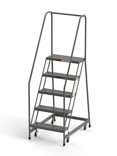 5 Step Rolling Ladder From SaveMH Industrial warehouse ladder