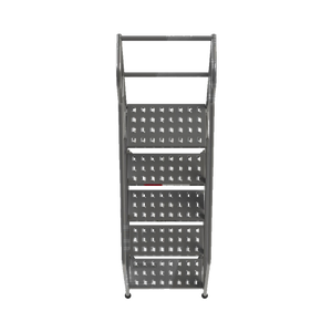 "Industrial Rolling Ladder - 5 Step 24""W Perforated Tread (Round Tube) - CA-B5026HSU"
