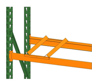 Pallet Rack with empty drum cradle by SaveMH from EGA Products