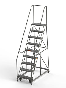 "9 Step Rolling Ladder 24"" Wide Treads from SaveMH Industrial warehouse ladder"