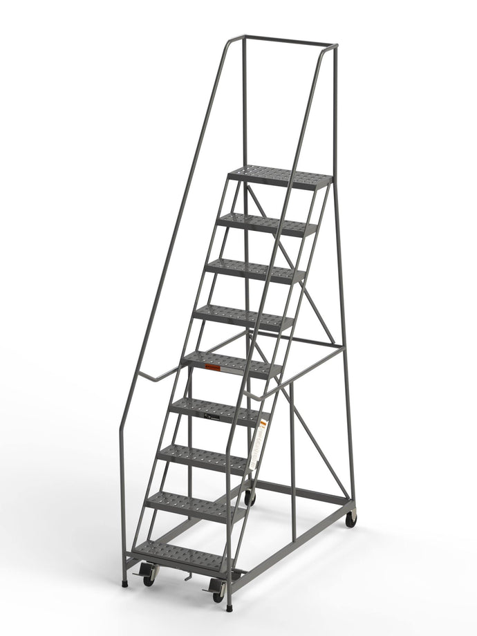9 Step Rolling Ladder 24