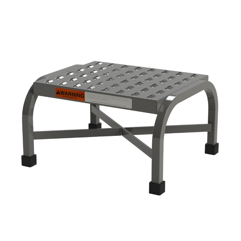 Heavy Duty Step Stool from SaveMH Perforated Tread Industrial Use Model PSS