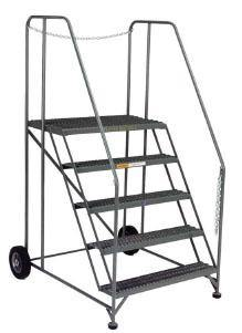 Semi Truck Trailer Access Rolling Ladder with safety chains by SaveMH