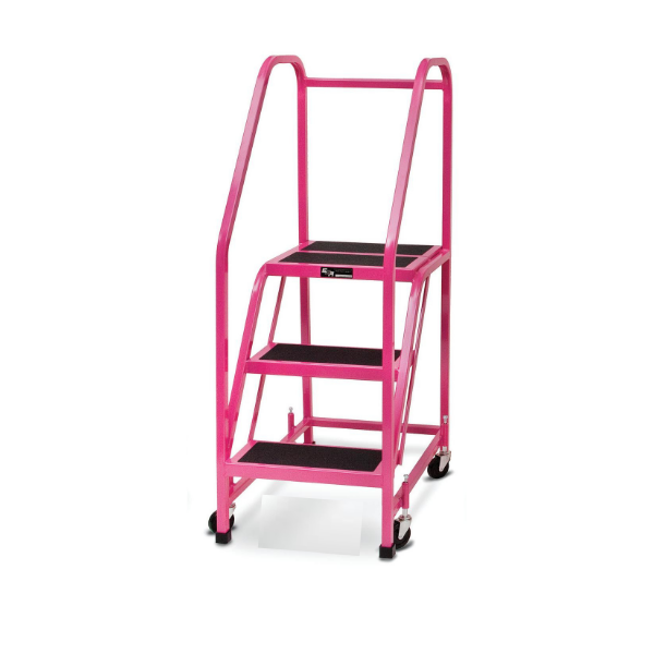 Pink Office Rolling Ladder for Breast Cancer Awareness by SaveMH F005