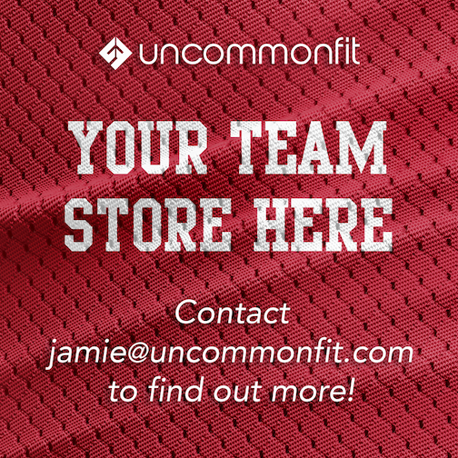 Team apparel store. Lacrosse, Hockey, basketball, baseball