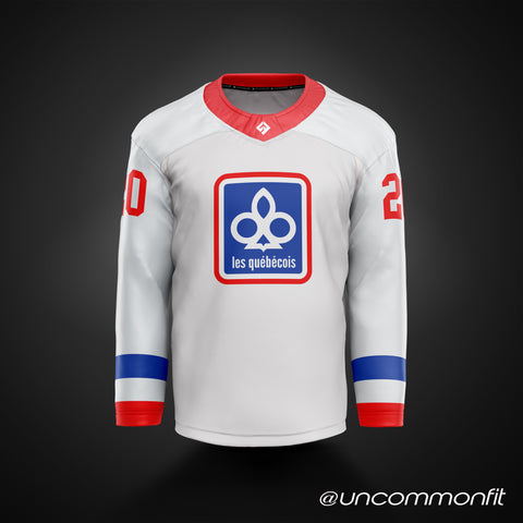 NLL Montreal Quebcois 1974-75 White Jersey