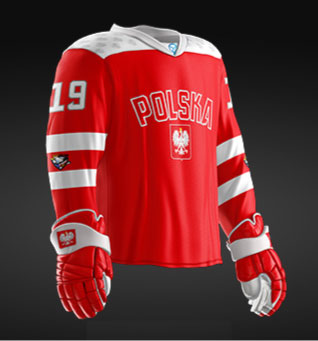Poland 2019 World Junior - Replica Jersey (Red)
