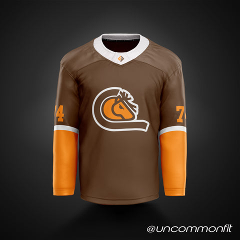 Quebec Caribous - 1975 Brown Jerseys - NLL