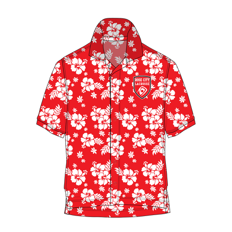 Rose City Hawaiian Button Shirt