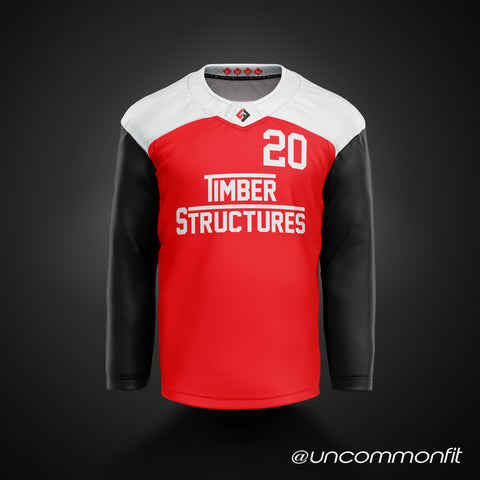 Peterborough Timber Structure - (Red/Black)